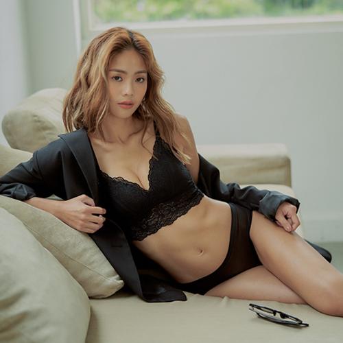 浪漫集中感無鋼圈內衣蔓延-正黑Hong虹36051