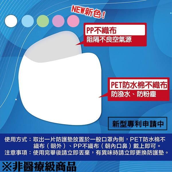 口罩防護墊 防沬 拋棄式保護墊 防護墊(10入/一包)