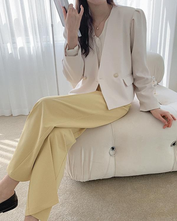 韓國空運 - #made some one pintuck long slacks 長褲