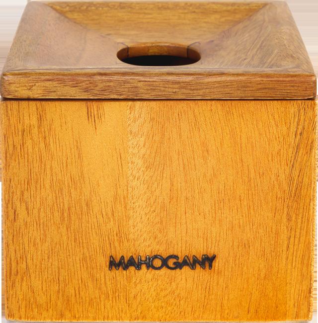 【領券再折】存錢筒 置物盒 居家品味 原木桃花心木 零錢盒 12cmX12cmX10cm - 母親節推薦
