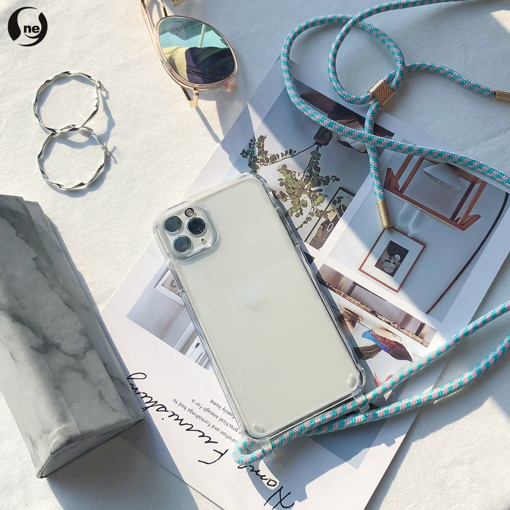 【APPLE IPhone8 Plus】TPU編織 掛繩殼 背帶殼 斜背殼 防摔手機殼