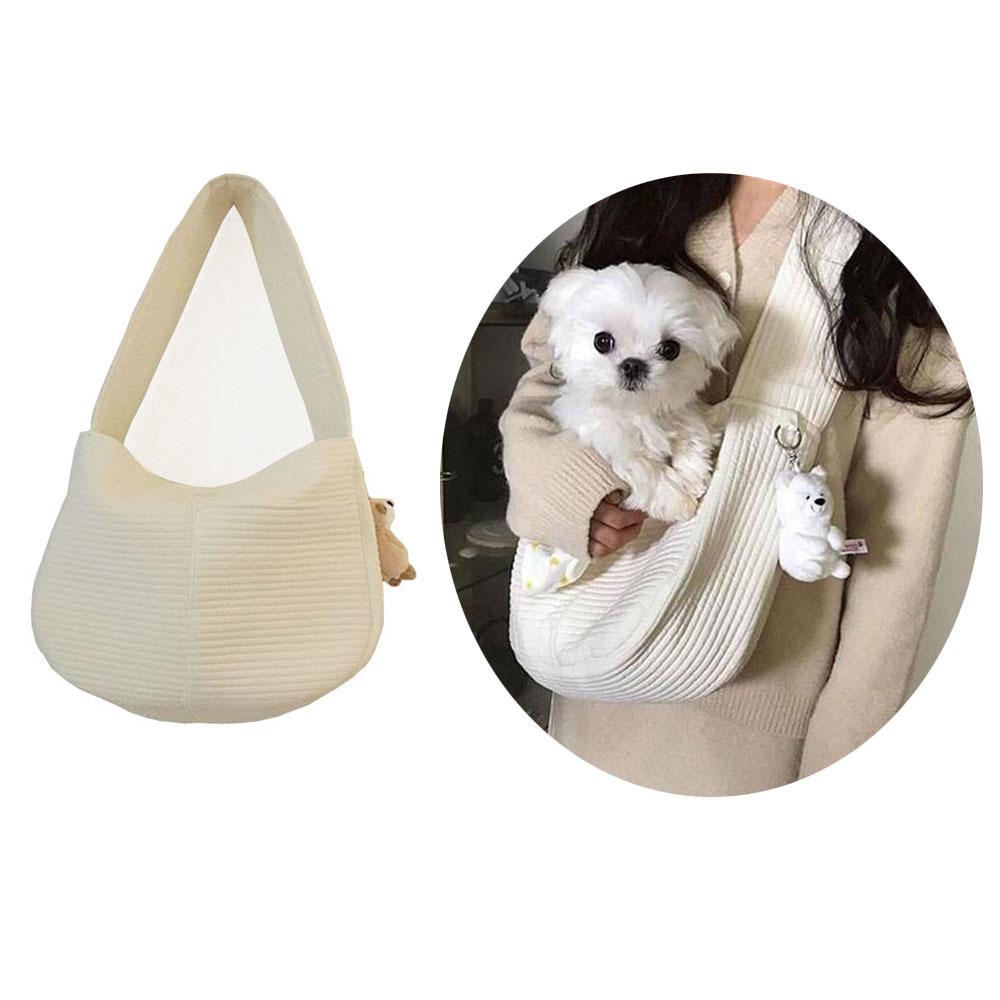 韓國帆布包背包泰迪寵物包斜挎包女包 2856單肩包猫包狗包猫咪外出便攜
