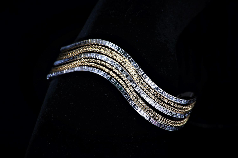 三色薔薇系列 Josephine 約瑟芬女神 三色金編織 時尚簡約手環