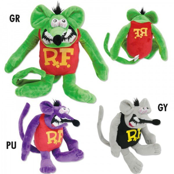 RAT FINK / RATFINK - RAF523 Bendable Doll 老鼠芬克 中型 毛絨公仔 布偶 (三色)