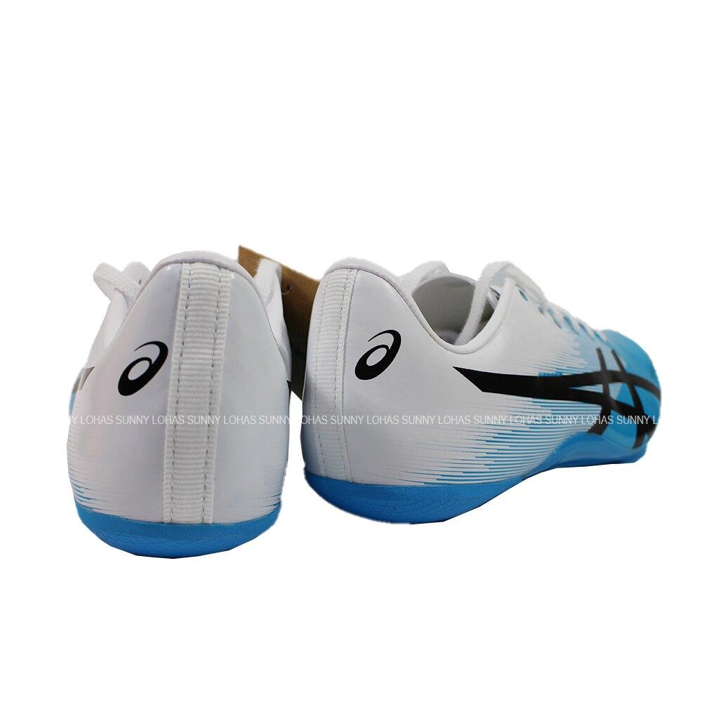 ASICS 亞瑟士 HYPERSPRINT 7 男女 田徑鞋 1091A015-402 藍X白(C1)【陽光樂活】