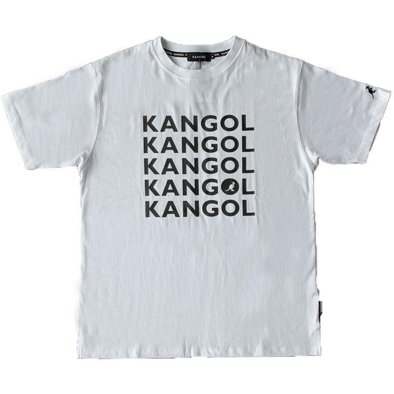 ★KANGOL SPORTS★ KPMC-10067 文字 寬版 短T (白色)