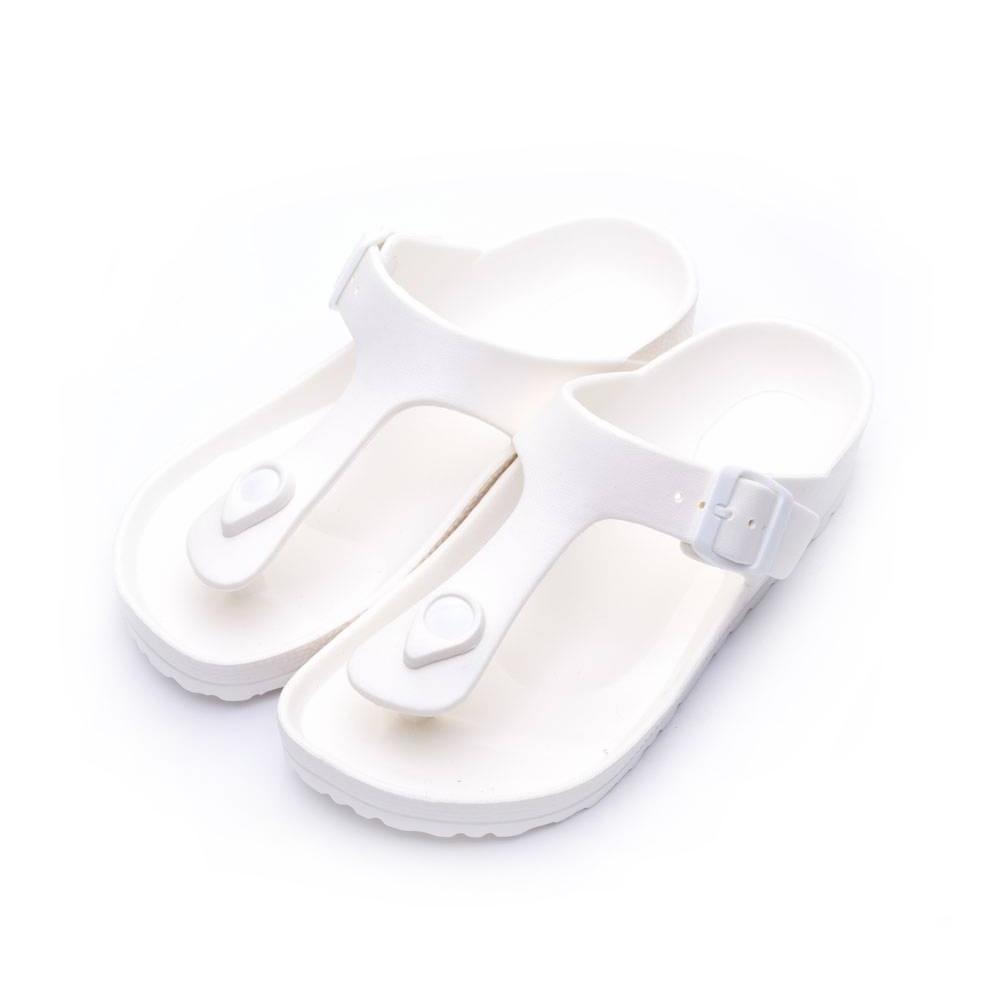 ARRIBA艾樂跑女鞋-輕量防水夾腳拖鞋-白/黑/藍(61469)