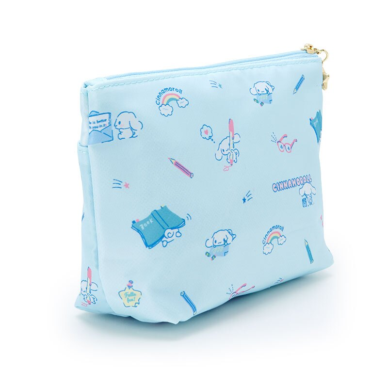 【領券折$30】小禮堂 大耳狗 船形尼龍雙層化妝包 三角化妝包 收納包 盥洗包 小物包 (藍 2021新生活)