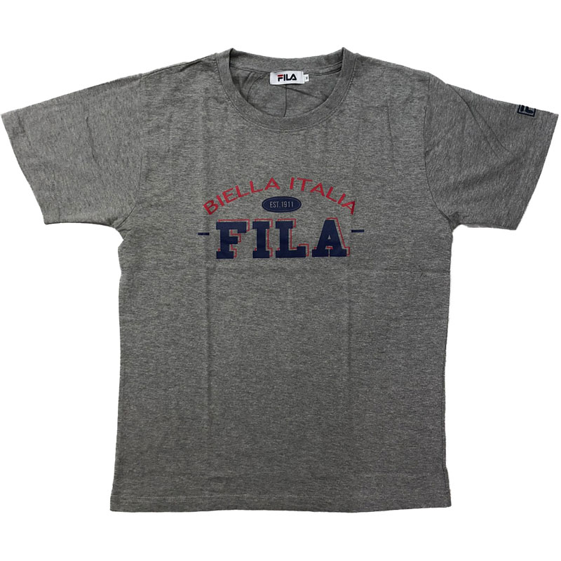 FILA - 日本限定 FH7694 BIELLA ITALIA 純棉 短T (灰色)