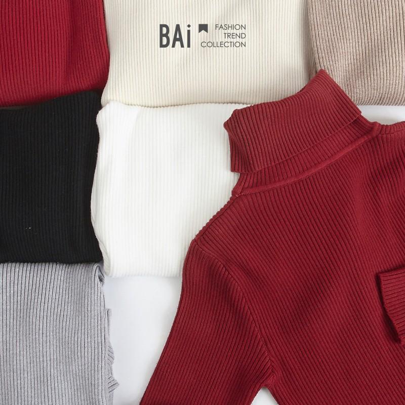 針織衫 坑條羅紋超彈性柔軟內搭高領上衣-BAi白媽媽【305147】