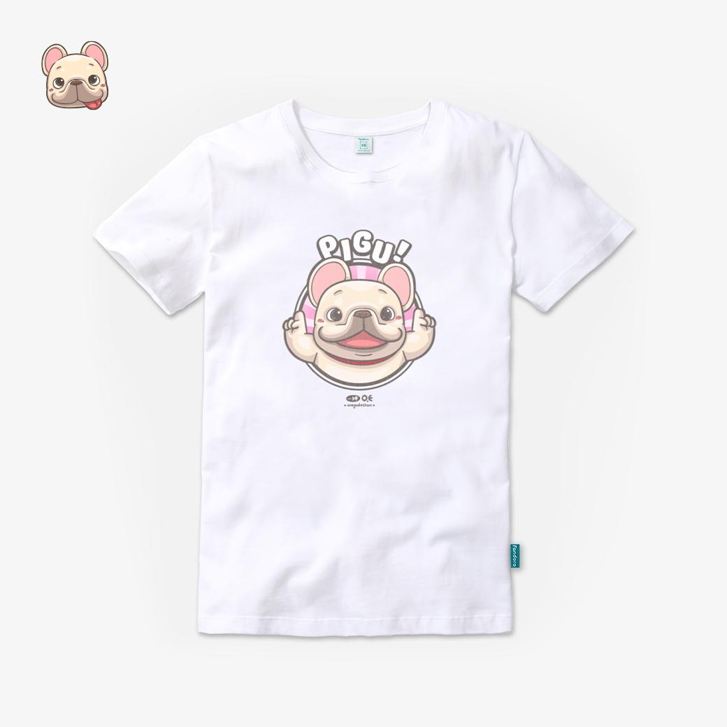 一神家族-皮古款棉花白T恤