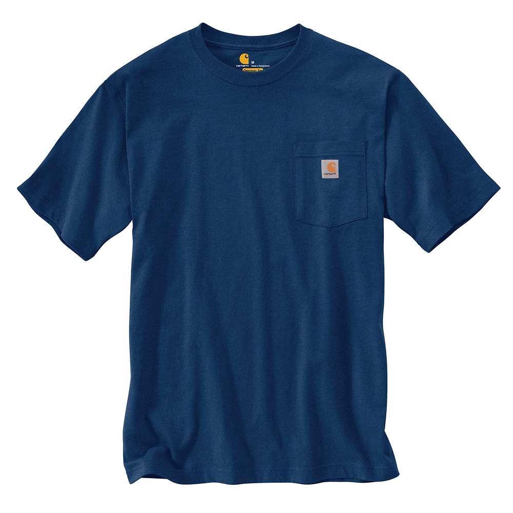 CARHARTT - K87 413美線 Pocket Tee 口袋 短T 素T (413 雪花深藍)
