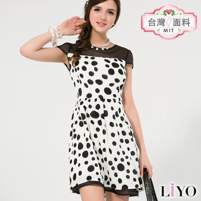 洋裝-LIYO理優-圓點印花洋裝-626098-此商品零碼不可退換貨