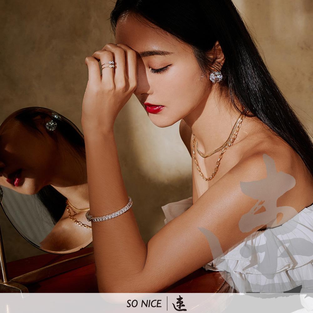 SO NICE X 速玲│古典巴洛克寶石耳夾