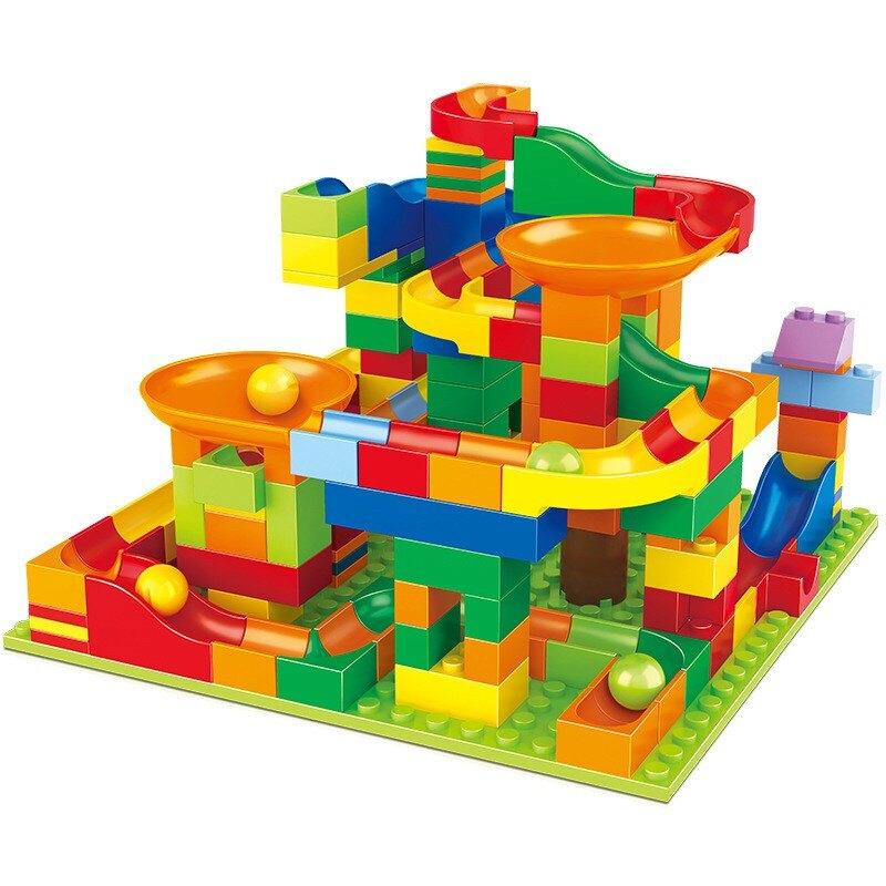 積木 428片 滑道積木 百變滑道積木 GD☀️最佳禮品 小顆積木 迷你積木 益智玩具 兒童玩具 玩具 滑道