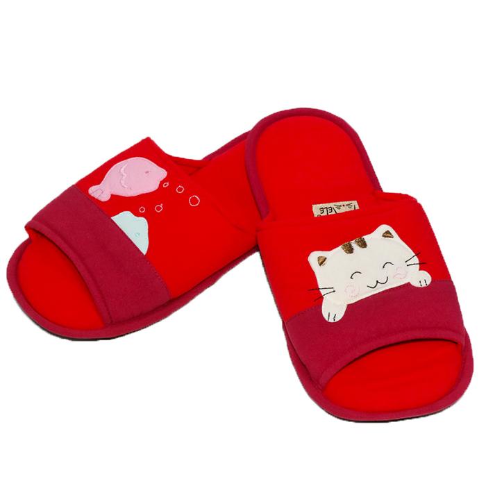Melecat咪樂貓貓咪小魚兒愛遊戲室內拖鞋【HOZ-053】