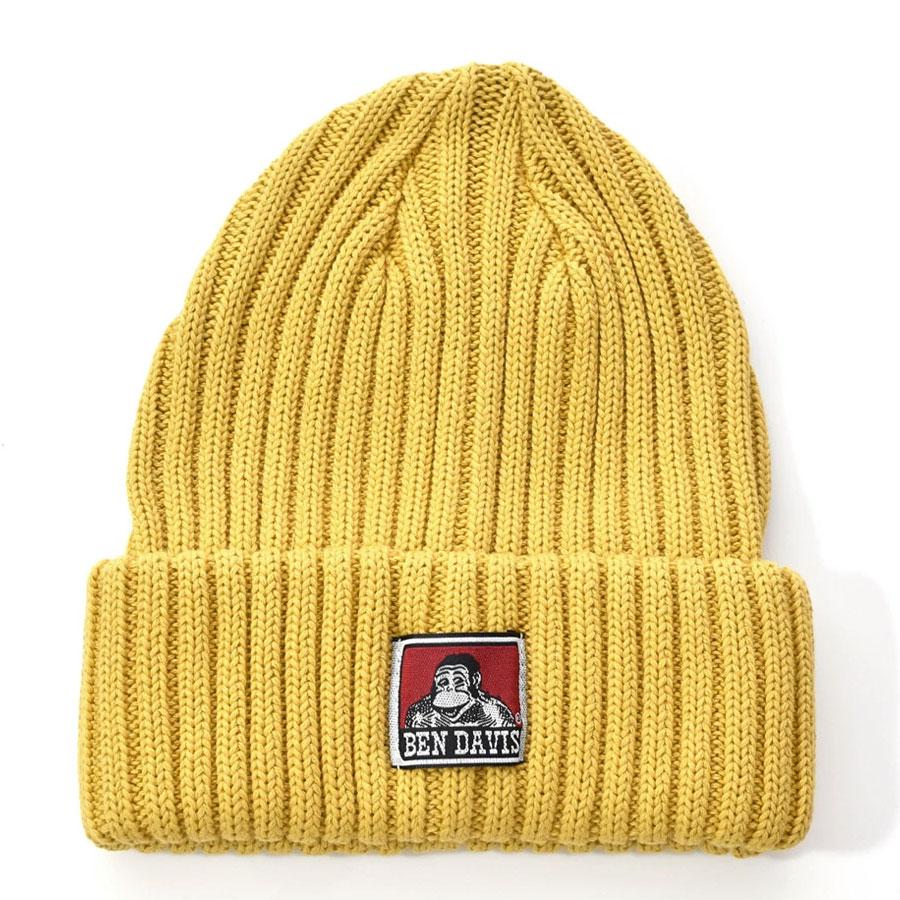 BEN DAVIS - BDW-9500-11 COTTON KNIT CAP 毛帽 / 針織帽 (黃色)