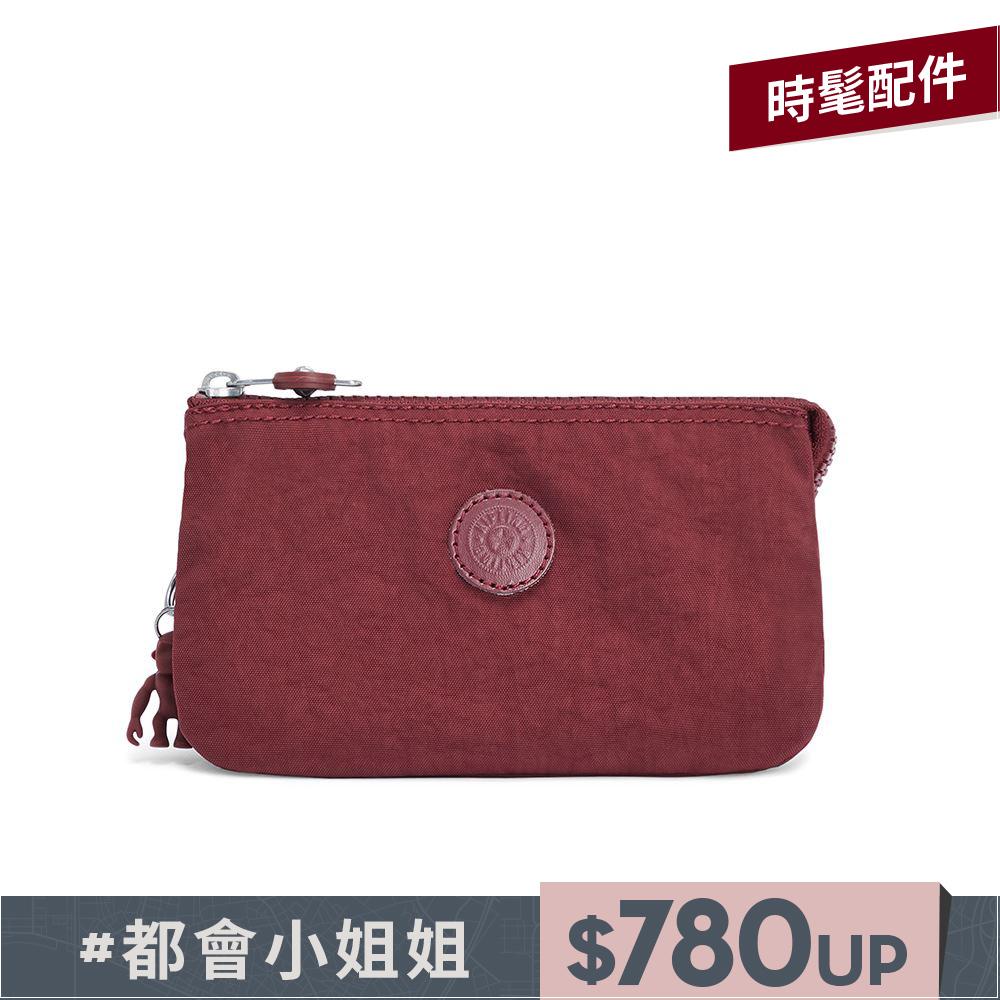 迷人微醺紅三夾層配件包-CREATIVITY L