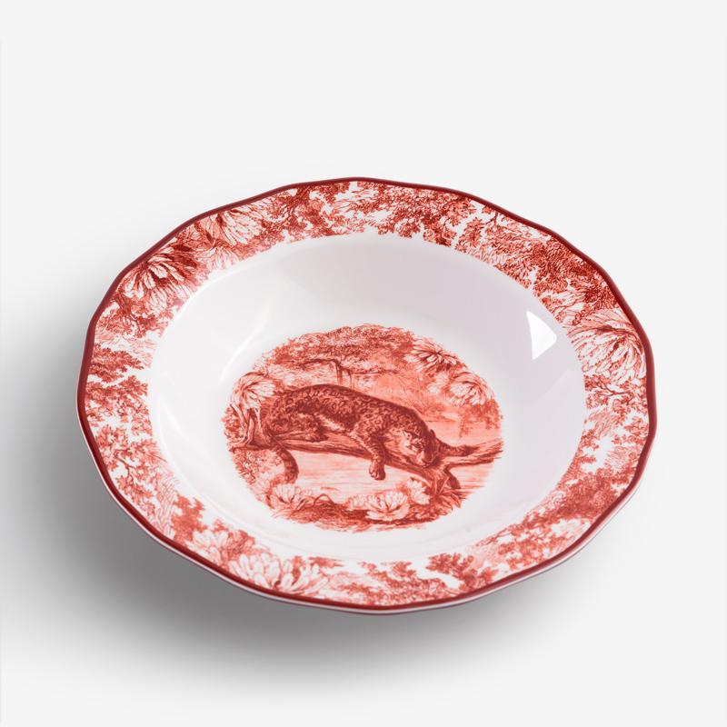 WAGA 緋紅盛宴 23cm 合成樹脂湯盤│雲豹│單品