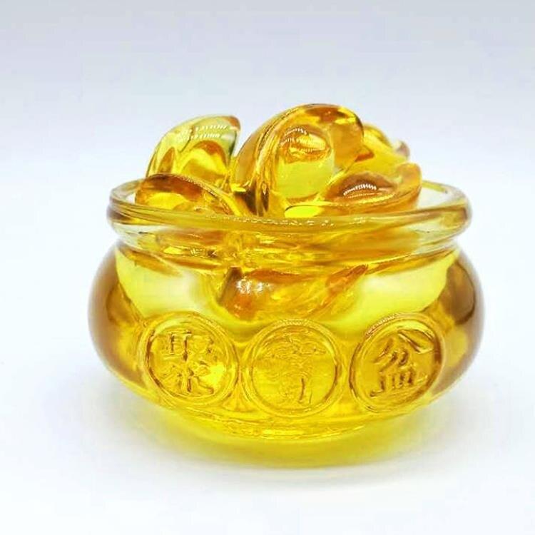 黃水晶聚寶盆元寶擺件家居客廳裝飾品開業【天天特賣工廠店】
