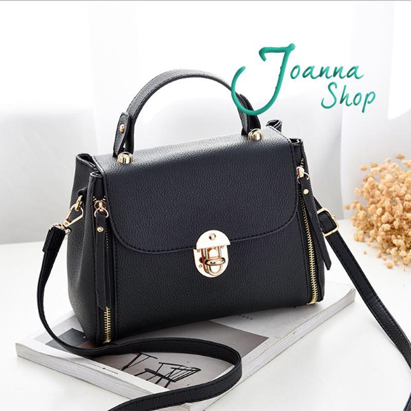 新款韓版簡約百搭鎖扣潮流時尚斜肩包1-Joanna Shop