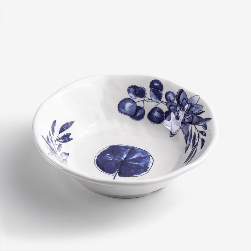 WAGA 典雅青瓷 18cm 合成樹脂圓碗│單葉│單品
