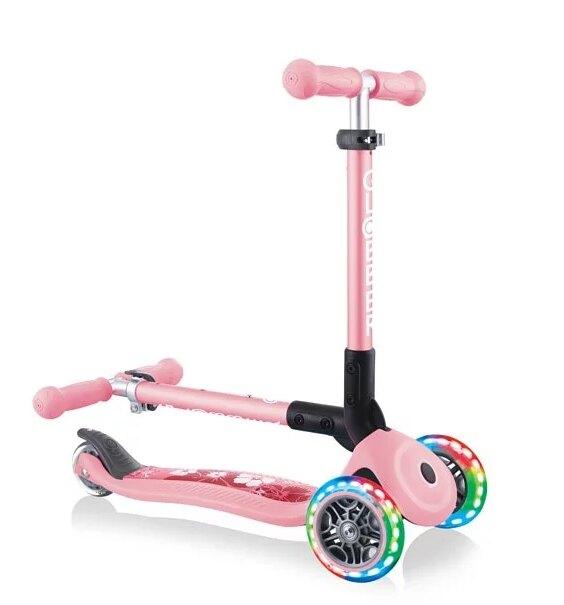 2021最新款 法國 GLOBBER 兒童2合1三輪折疊滑板車迷你夢幻版(LED發光前輪)-2色【淘氣寶寶】