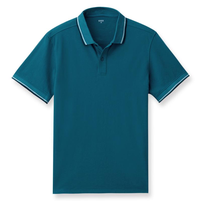 短袖POLO衫(苔綠)-男