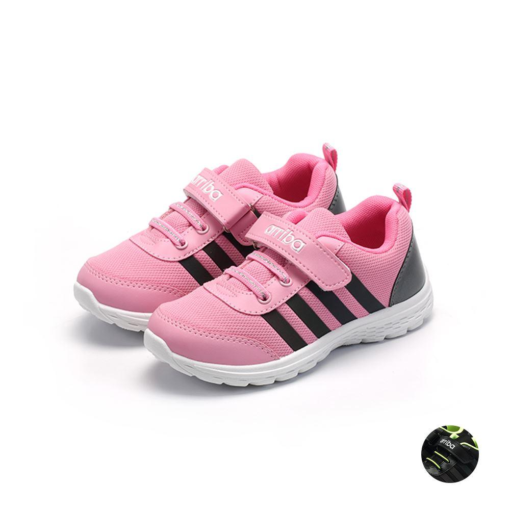 ARRIBA艾樂跑童鞋-透氣網布休閒鞋-粉/黑(TD6297)