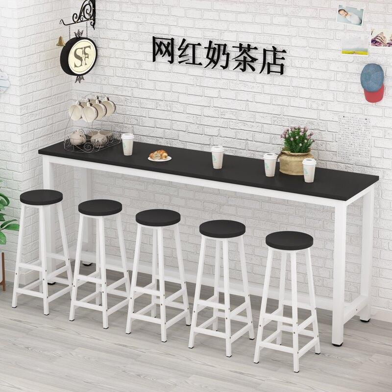 吧台桌 家用高腳桌餐廳咖啡奶茶店桌椅小陽台桌長條桌窄酒吧桌靠牆T【全館免運 限時鉅惠】