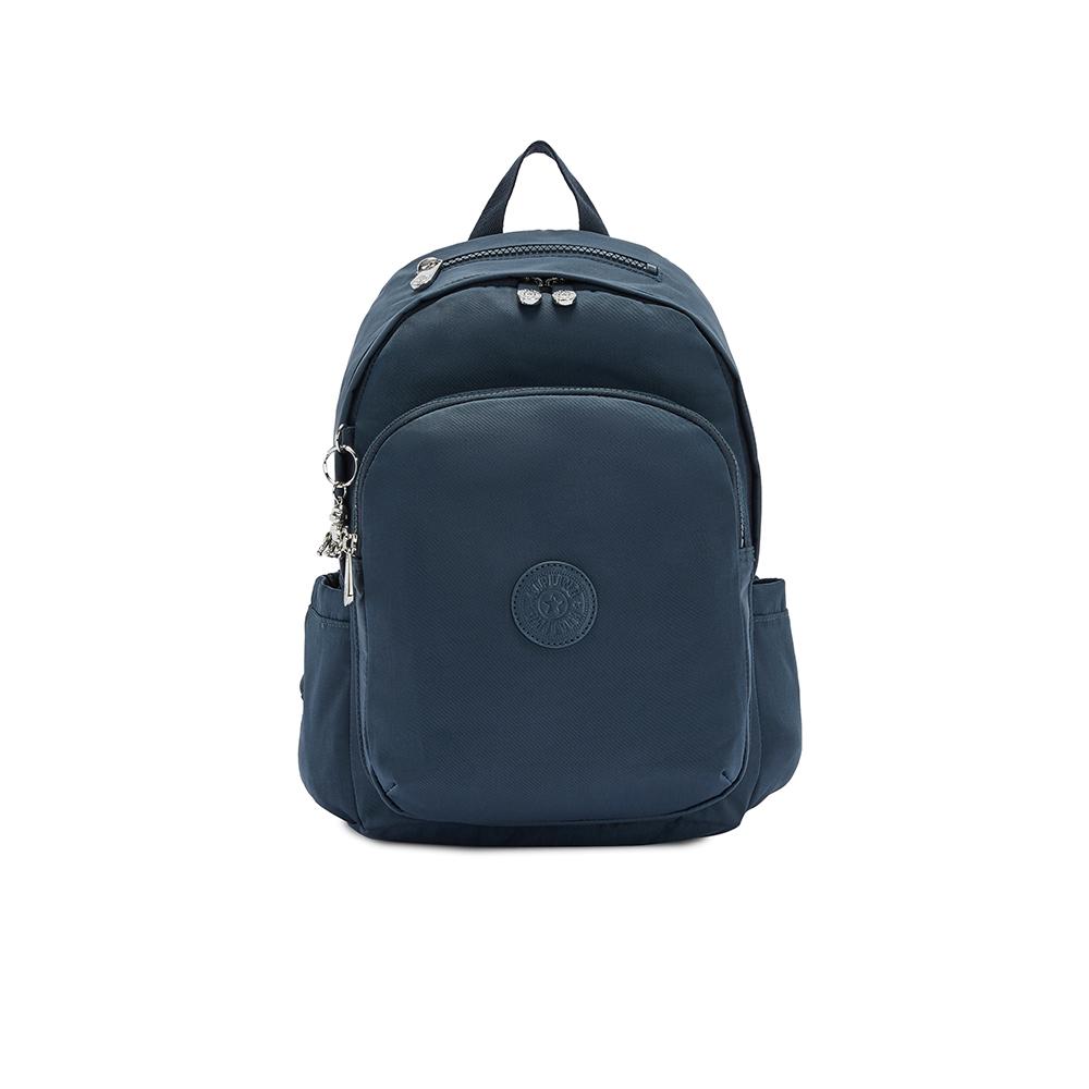 知性優雅藍上方拉鍊後背包-DELIA