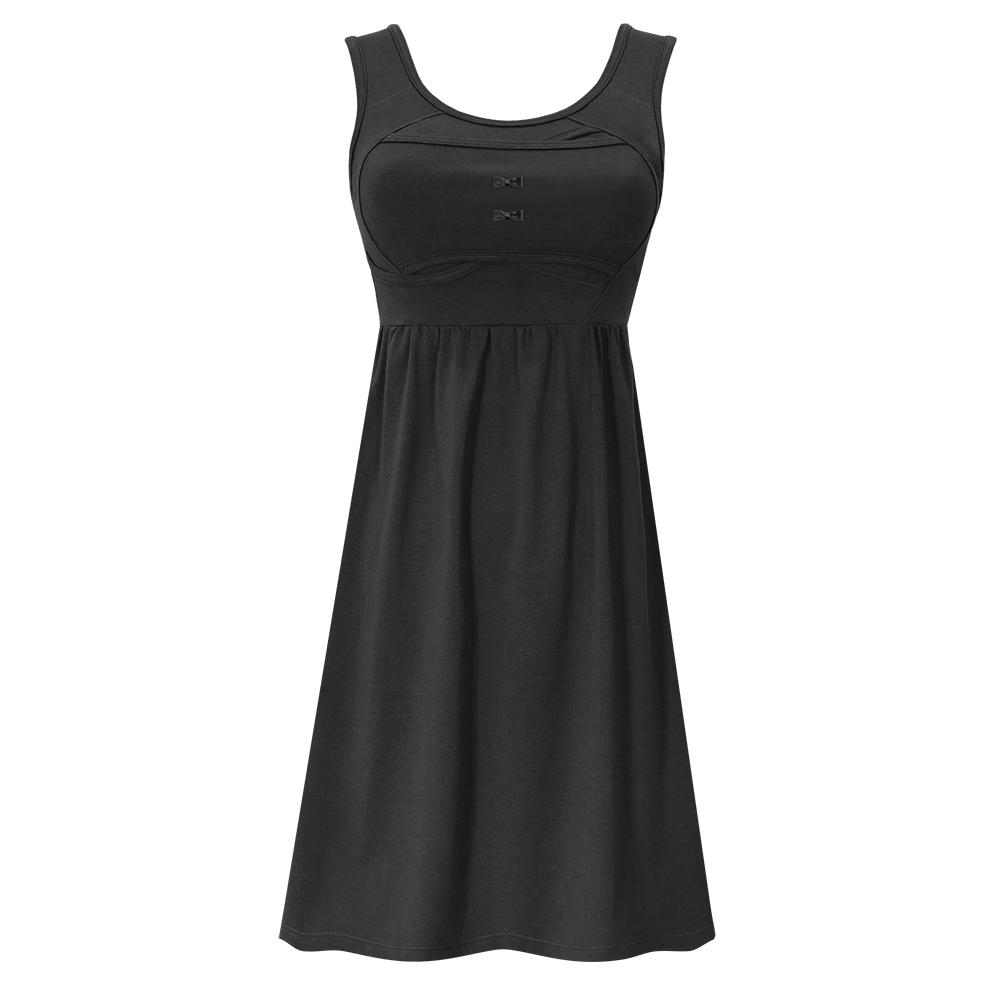 雙C防擴對策 新版 棉感經典美胸洋裝-黑色