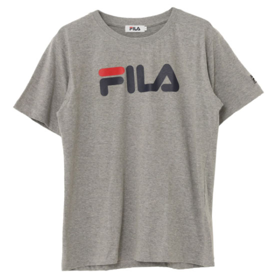 FILA - 日本限定 FH7691 胸前文字 純棉 短T (灰色)