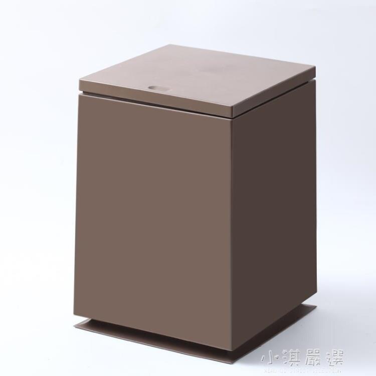 北歐簡約輕奢風垃圾桶家用方形室內客廳雙層帶蓋創意高檔現代廚房