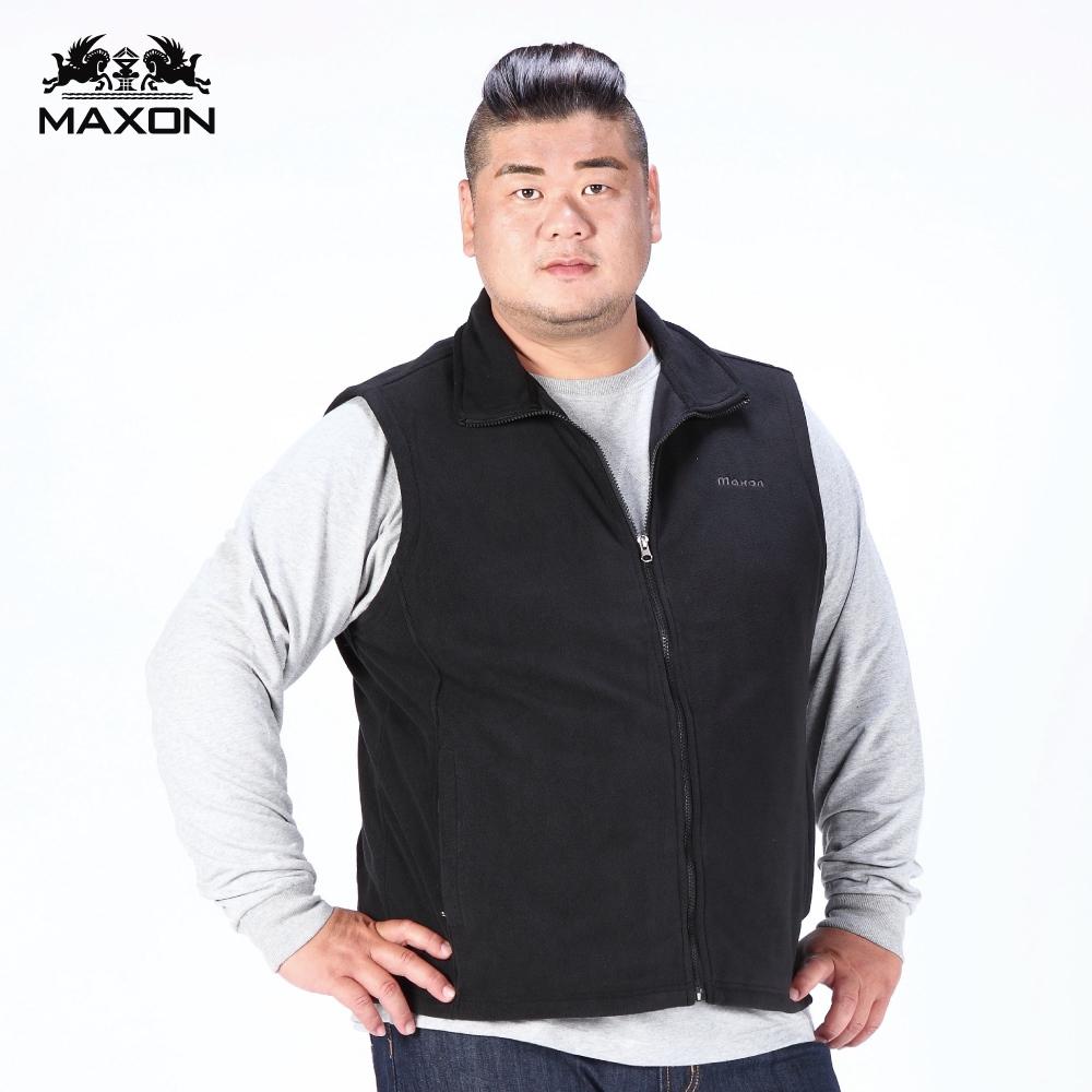 【MAXON】大尺碼黑色刷毛保暖背心2L~7L 82928-88 82929-88