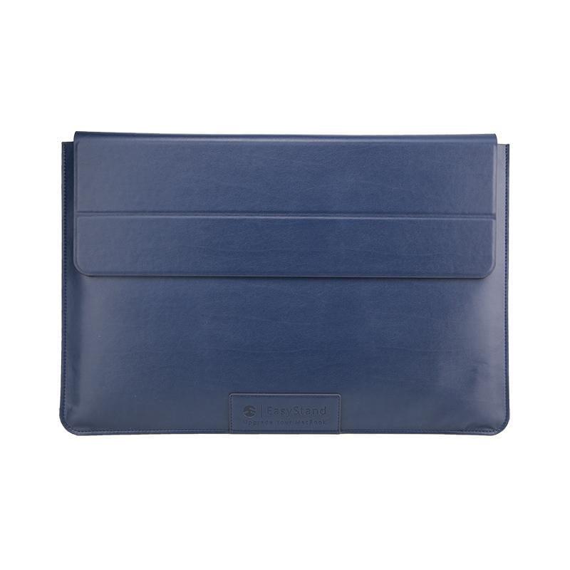 EasyStand 13吋 MacBook Air/Pro 立架手工皮革護套 藍色