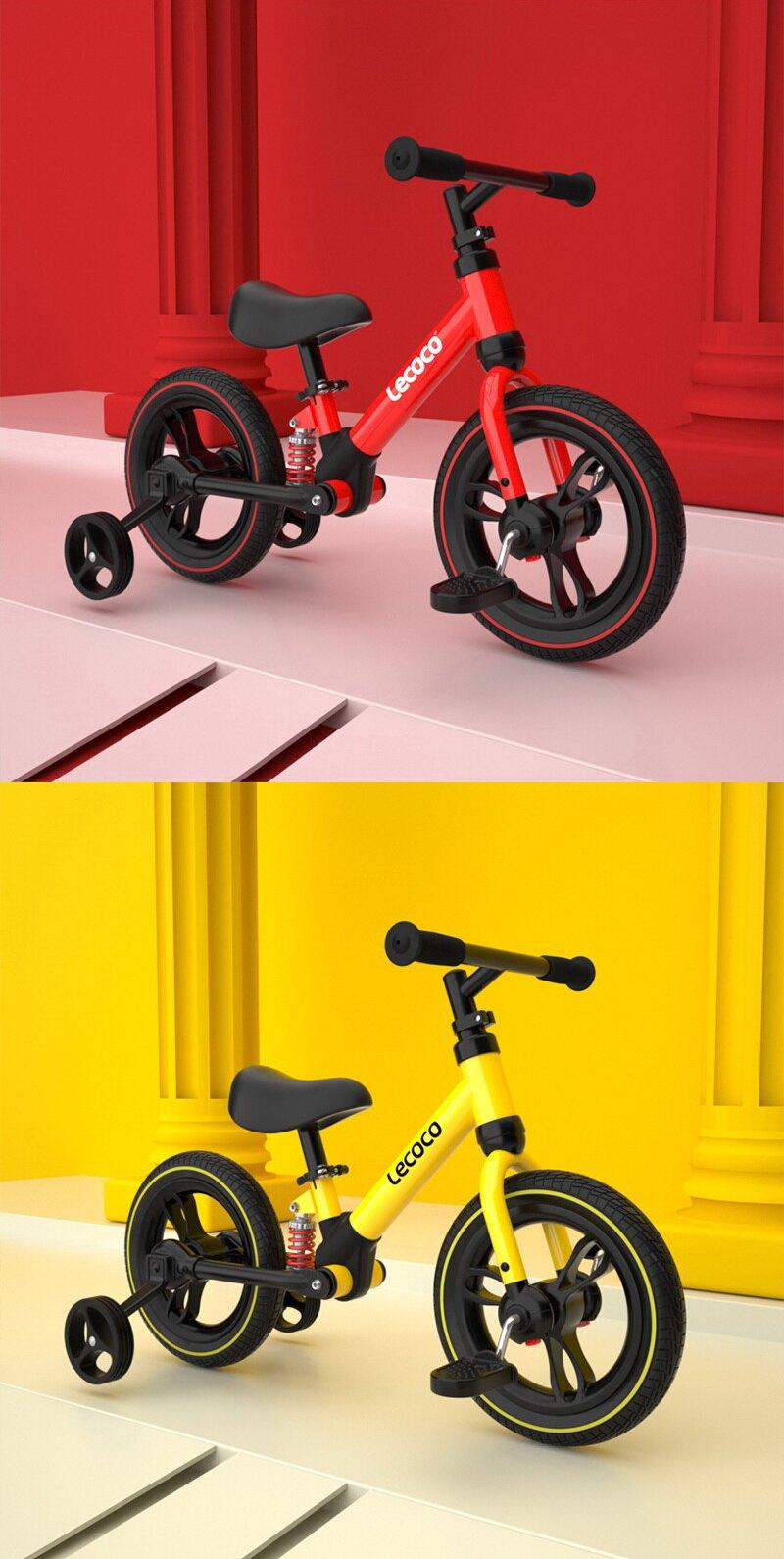 【義大利Lecoco】旅行家多功能成長型三合一滑步車-黃/紅