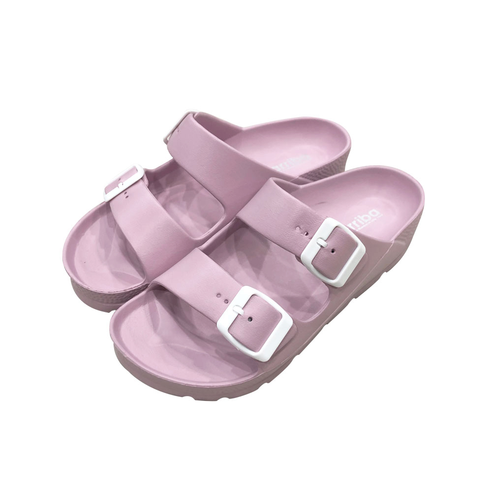 ARRIBA艾樂跑女鞋-百搭經典防水拖鞋-紫/綠/粉/黃(61474)