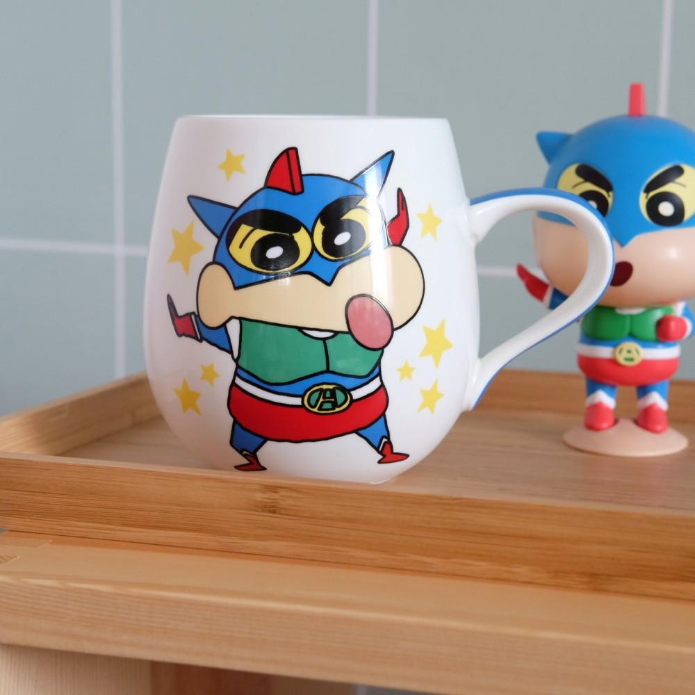 《蠟筆小新》日本商品 超人小新質感馬克杯