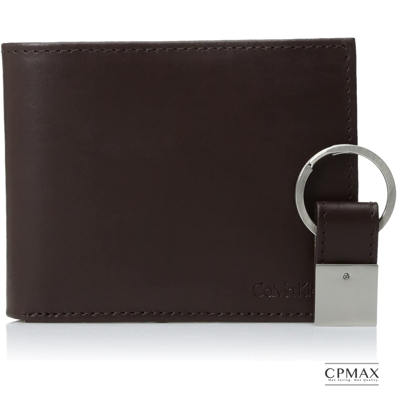 Calvin Klein 原裝正品空運 皮革雙折錢包和鑰匙扣套裝組 CK皮夾 CK短夾 男短夾 CK男皮夾 L41