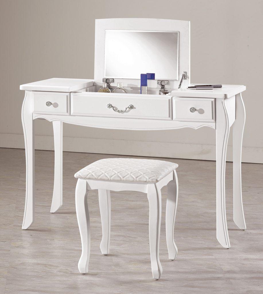 【尚品傢俱】CM-647-5 仙朵拉3.5尺掀鏡化妝台(含椅)