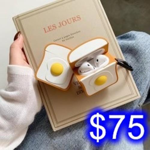 可愛卡通造型Airpods保護套 加厚airpods耳機保護套 iPhone無線藍牙耳機矽膠保護套 B-6