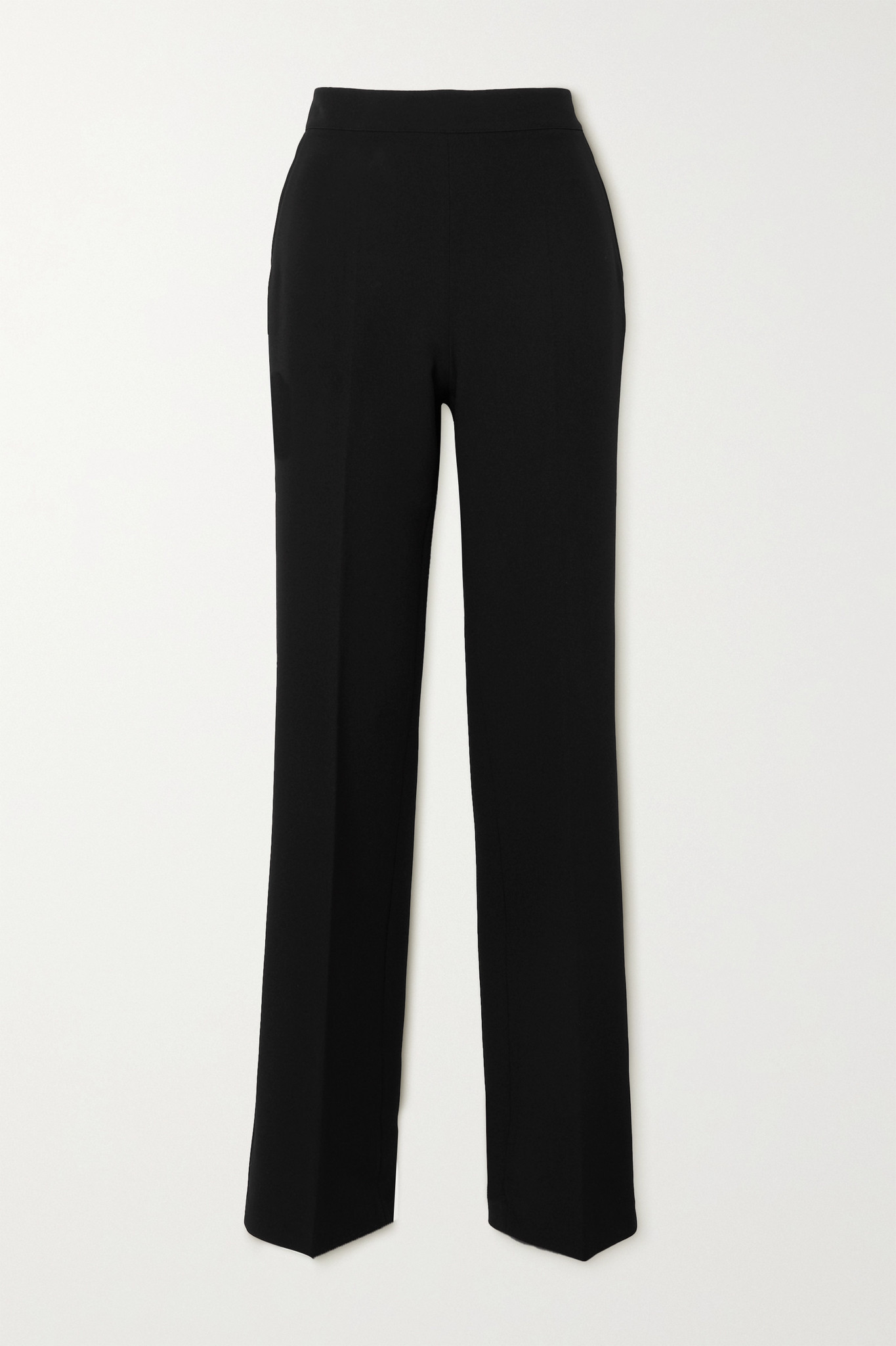 SAFIYAA - Goldie Stretch-crepe Straight-leg Pants - Black - FR34