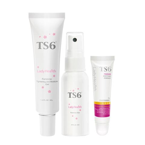 「緊嫩防護組」TS6護一生 緊彈水嫩凝膠40g+私密舒緩蜜露15g+幸福粉霧40g