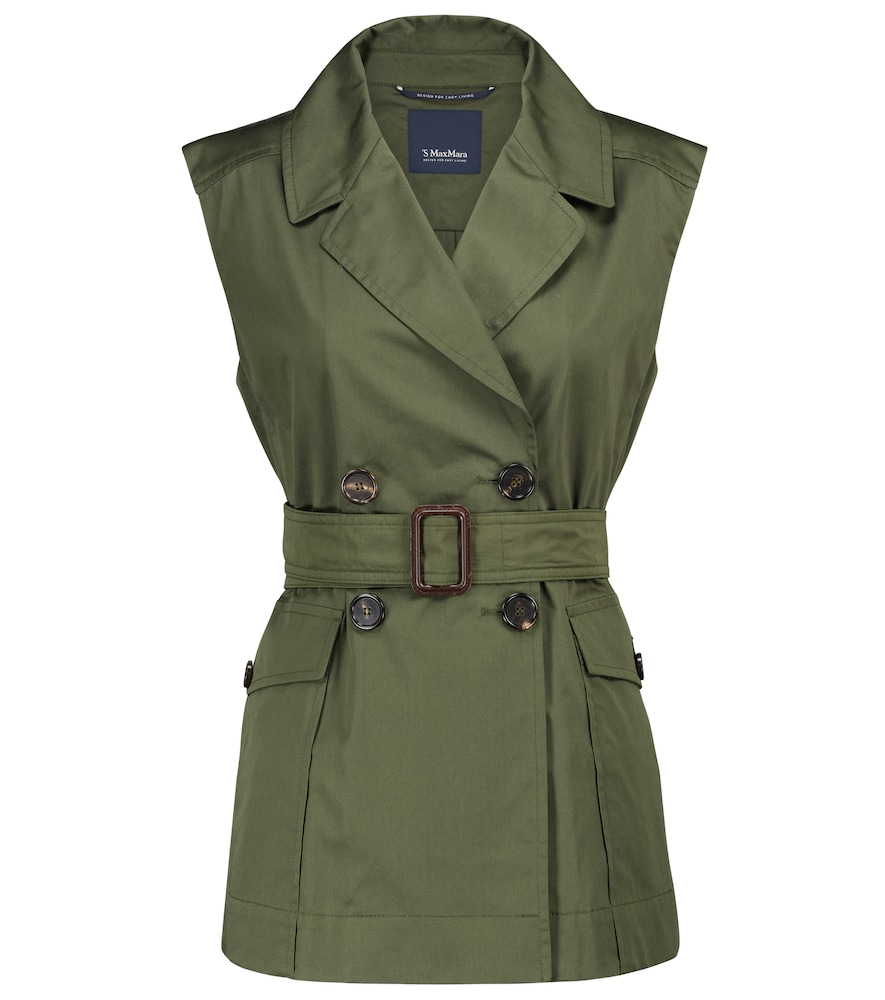 Galvano sleeveless cotton jacket