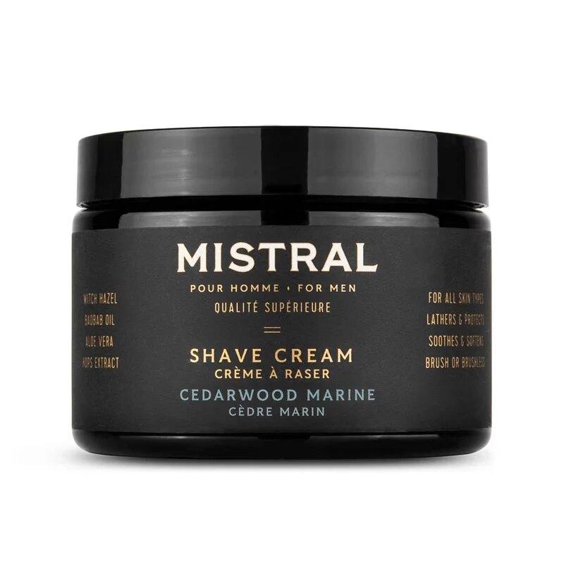 【紳士用品專賣】美國 Mistral - 超級刮鬍膏(海洋雪松 / 大容量瓶裝)