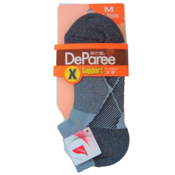 蒂巴蕾X足弓支撐運動船襪M-DP7916自然灰 【康是美】