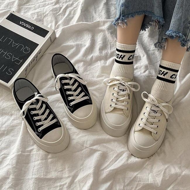 FOFU-(任選兩雙788)簡約百搭經典帆布鞋休閒鞋【02S13480】