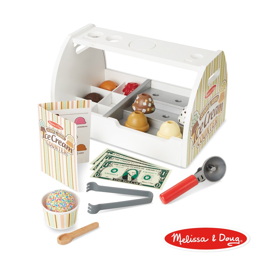 《 美國 Melissa & Doug 》玩食趣 冰淇淋專賣店  東喬精品百貨
