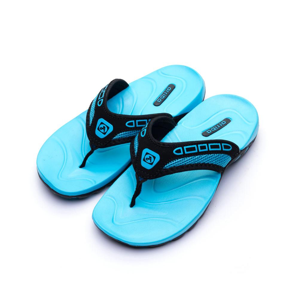 ARRIBA艾樂跑男女鞋-異材質夾腳拖鞋-藍/灰(62390)